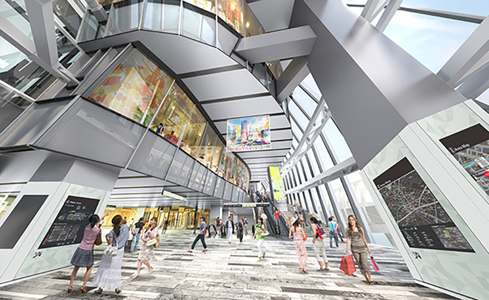 渋谷スクランブルスクエアの商業施設イメージ
