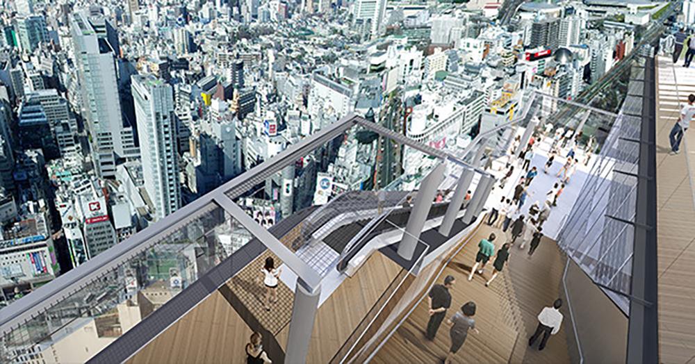 渋谷スクランブルスクエアのSHIBUYA SKY