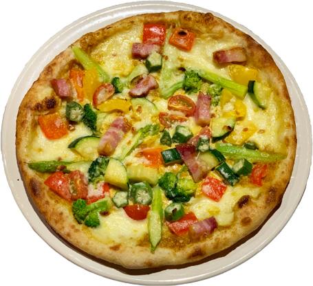 野菜カレーピザ