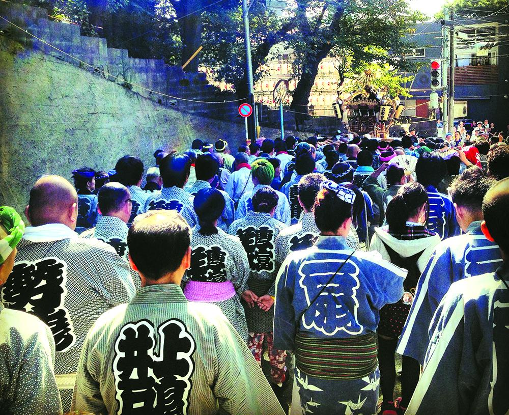 久我山稲荷神社例大祭の神輿渡御