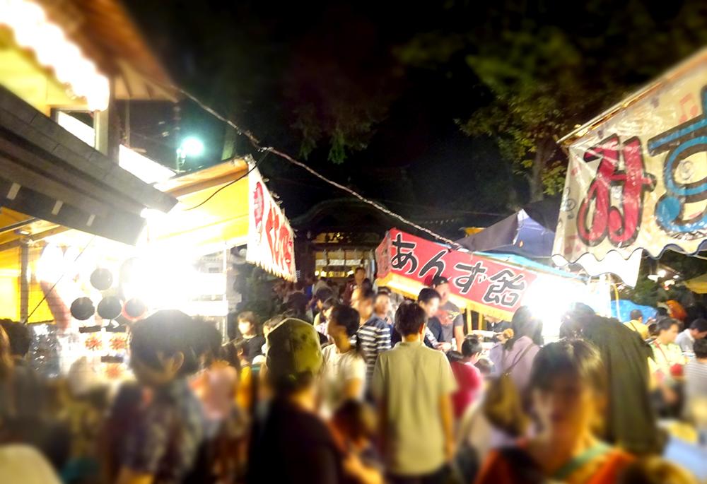 久我山稲荷神社例大祭の縁日屋台