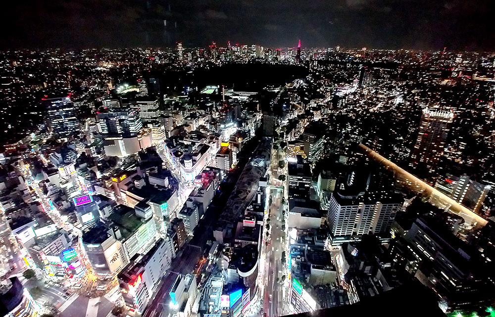 SHIBUYA SKYから望むドコモビル