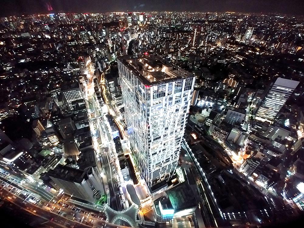 SHIBUYA SKYから見る渋谷ストリーム