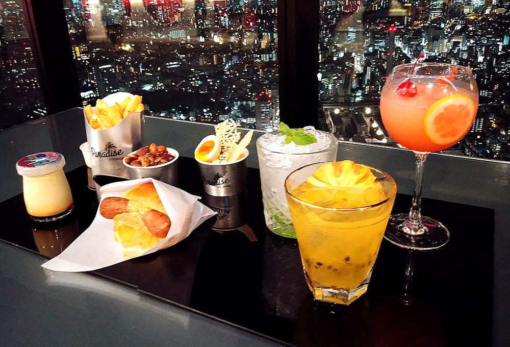 SHIBUYA SKYのParadise Loungeのメニュー