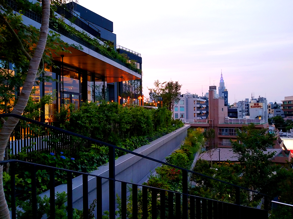 ウィズ 原宿3階のデッキからの眺望