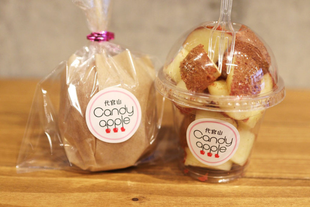Candy appleのシナモンシュガーりんご飴 600円(税抜)