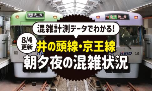 【8/4更新】朝夕夜の混雑状況がわかる!京王電鉄が「井の頭線・京王線の混雑計測データ」を更新しました。