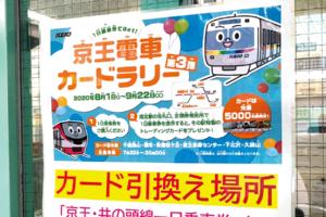 「京王電車カードラリー第3弾」開催中!この夏は非接触で京王6駅オリジナルカードをコンプリートだ!