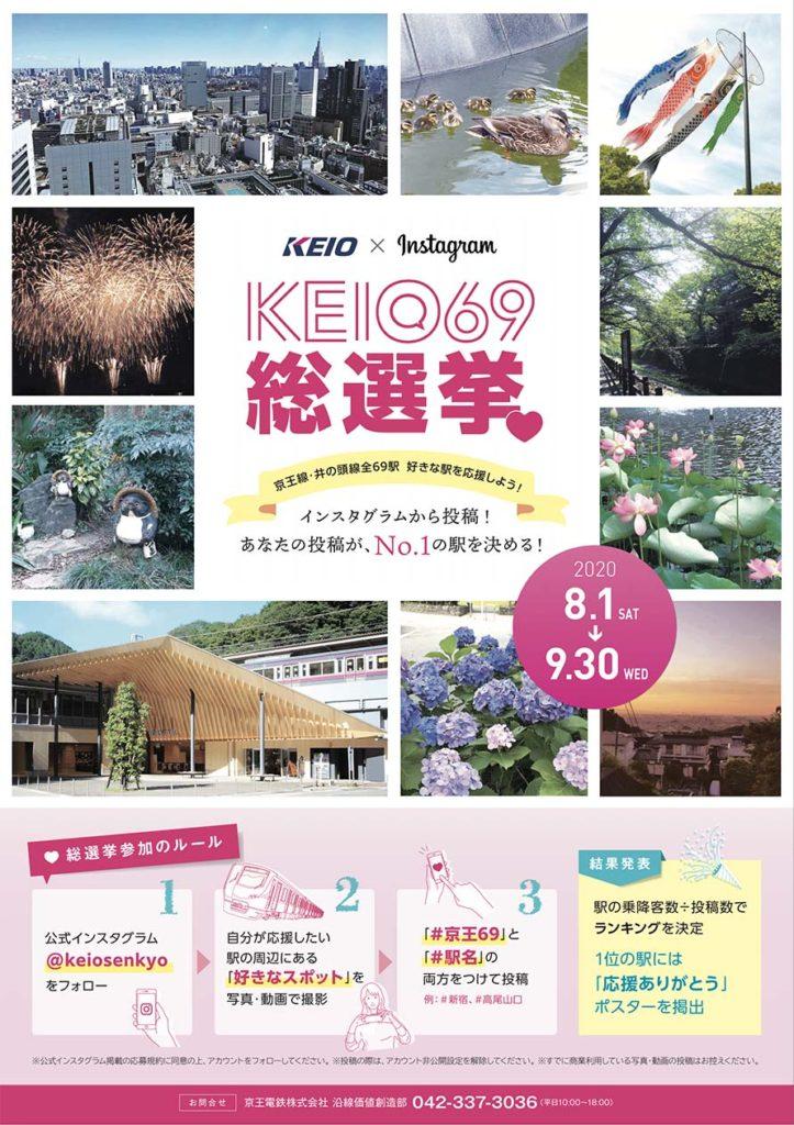「KEIO69総選挙」のキャンペーンポスター