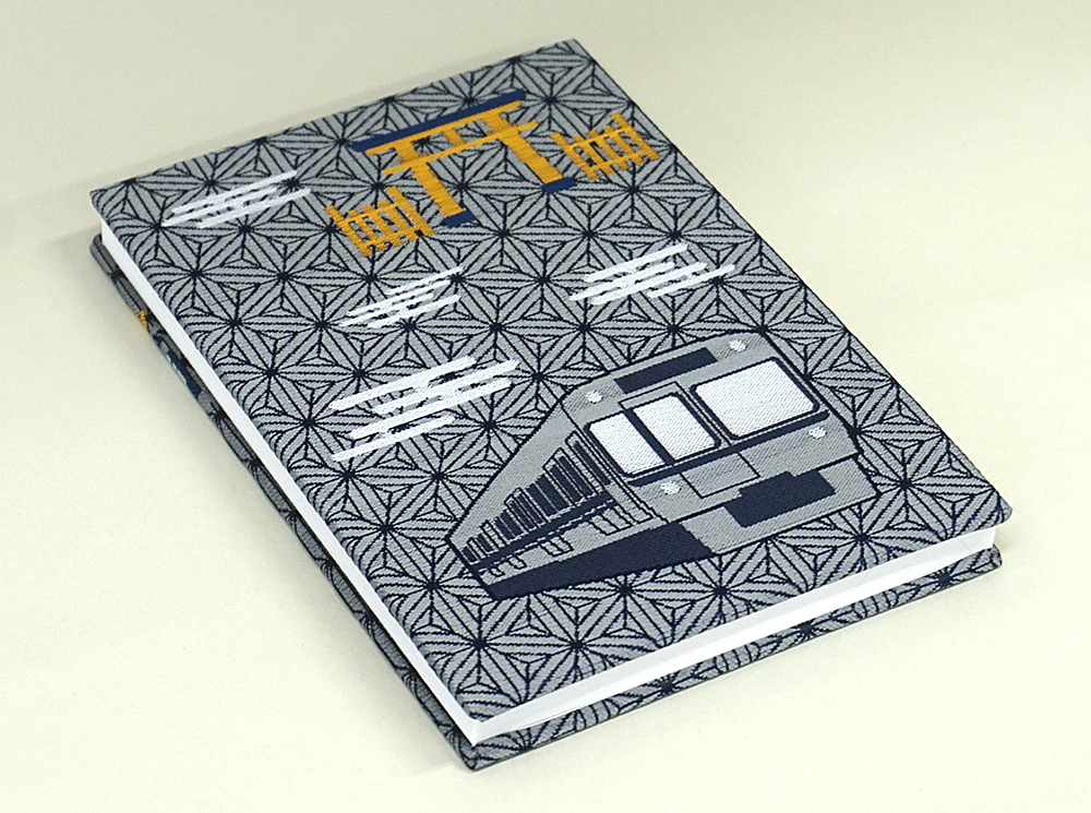 京王電鉄オリジナル御朱印帳第1弾の井の頭線1000系がデザインされた側の表紙