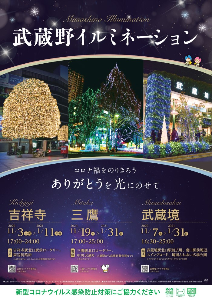 武蔵野イルミネーションのポスター(出典:武蔵野市観光機構HPより)