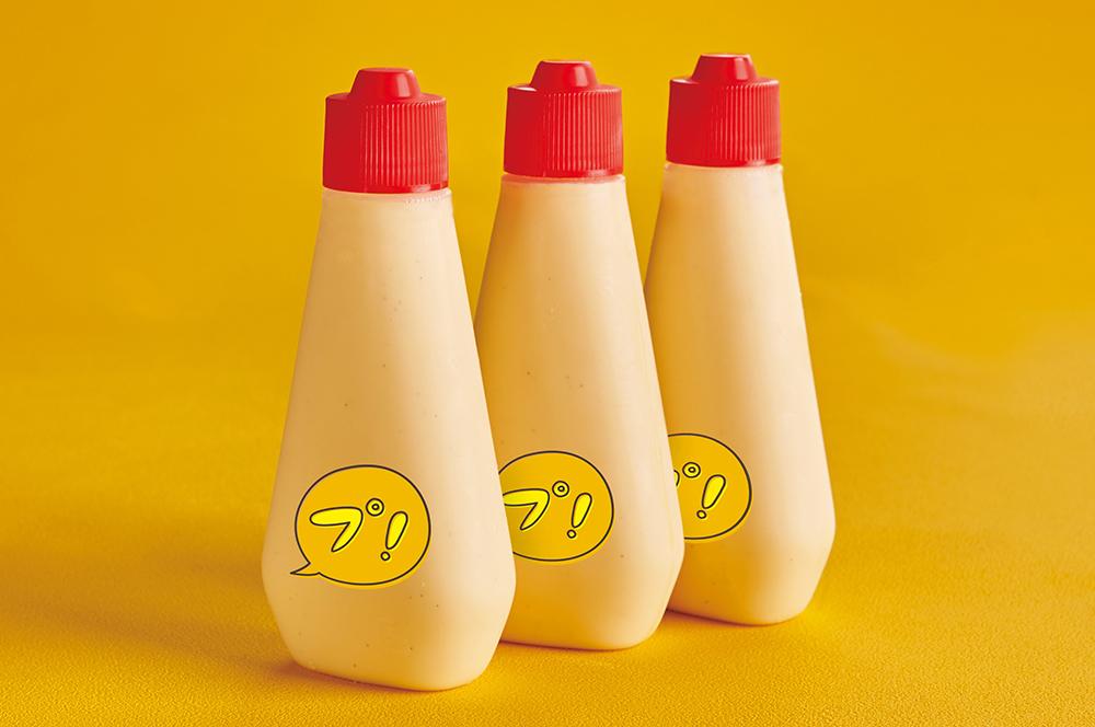 マヨネーズの容器に入ったプリン専門店「プリーーーン!」の『チューチュープリン』