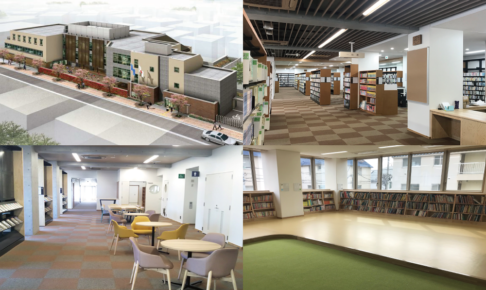 「永福図書館」が待望の移転リニューアルオープン!杉並区初の図書館・集会室・保育園の一体型複合施設になります!