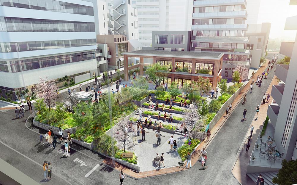 渋谷区立北谷公園のリニューアルイメージ