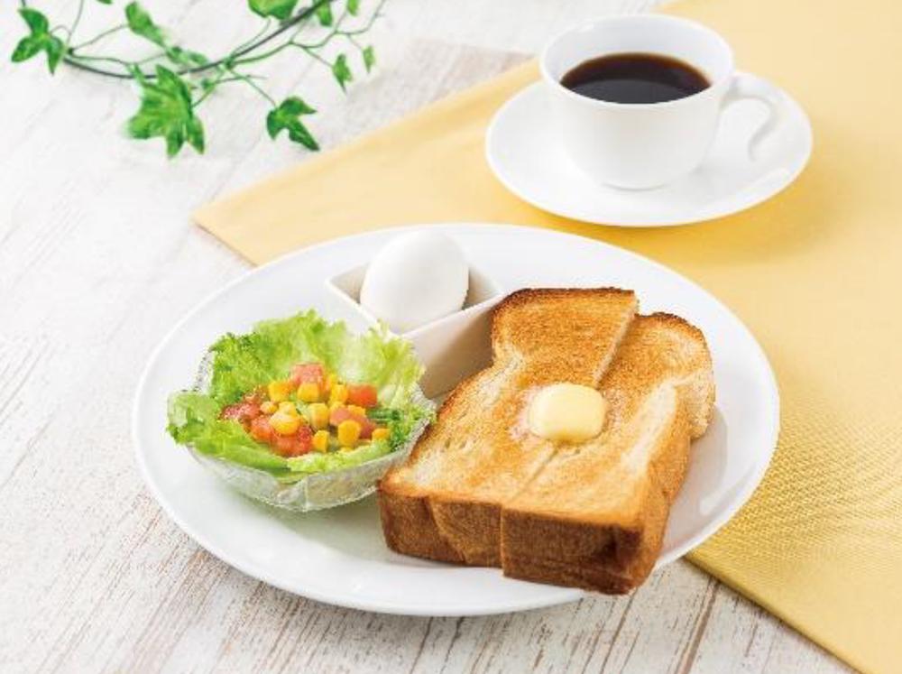 【モーニングセット】厚切りバタートーストセット