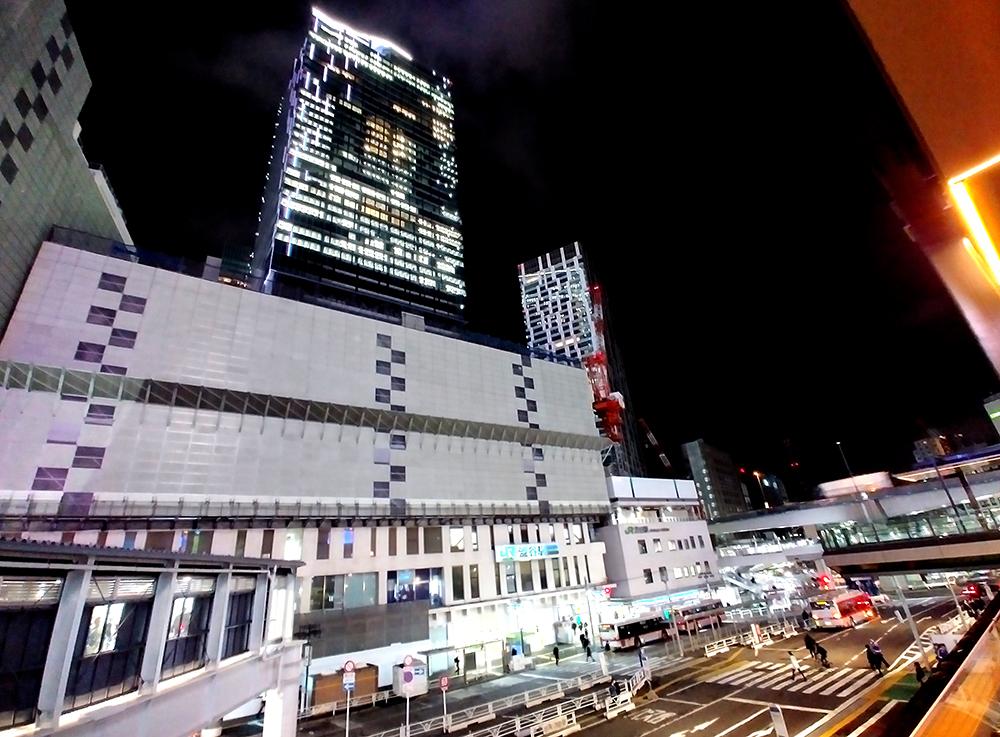 旧東急東横店とスクランブルスクエアのツーショット