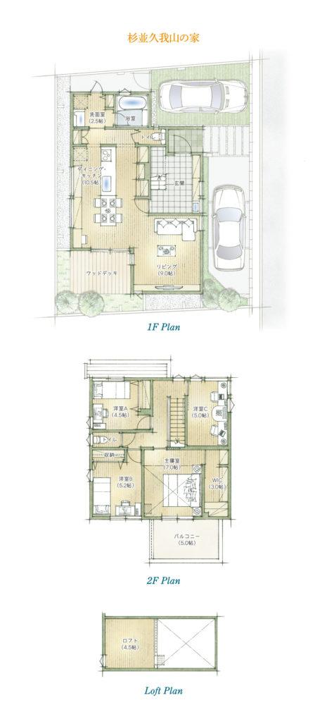「マチかど展示場 杉並久我山の家」のプランイメージ(出典:アールギャラリー公式HP)