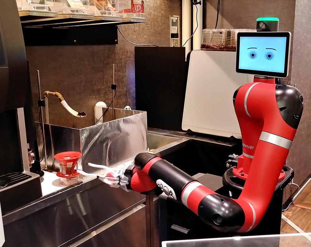 井の頭線・渋谷から徒歩5分の渋谷モディの「変なカフェ」のロボット・トム