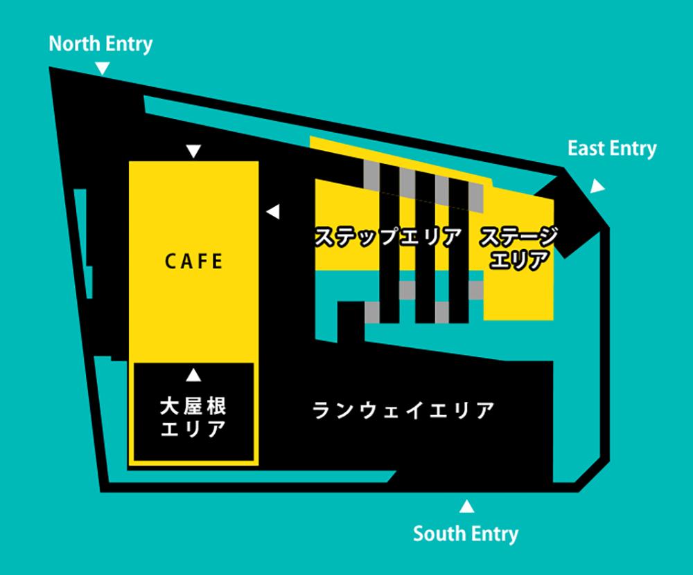 北谷公園のMAP(出典:渋谷区立北谷公園 公式HP)