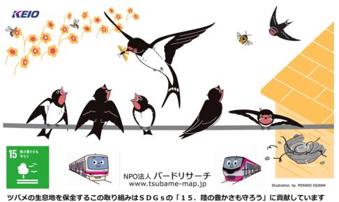 ツバメの成長を見守ろう!井の頭線と京王線の駅に「ツバメのフン受け板」が設置されます!