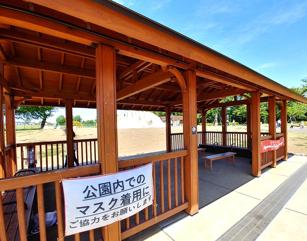 高井戸公園のあずま屋
