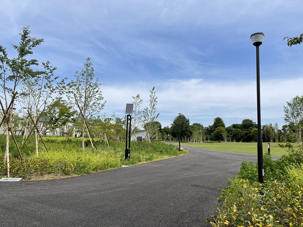 高井戸公園の新しくできる久我山口