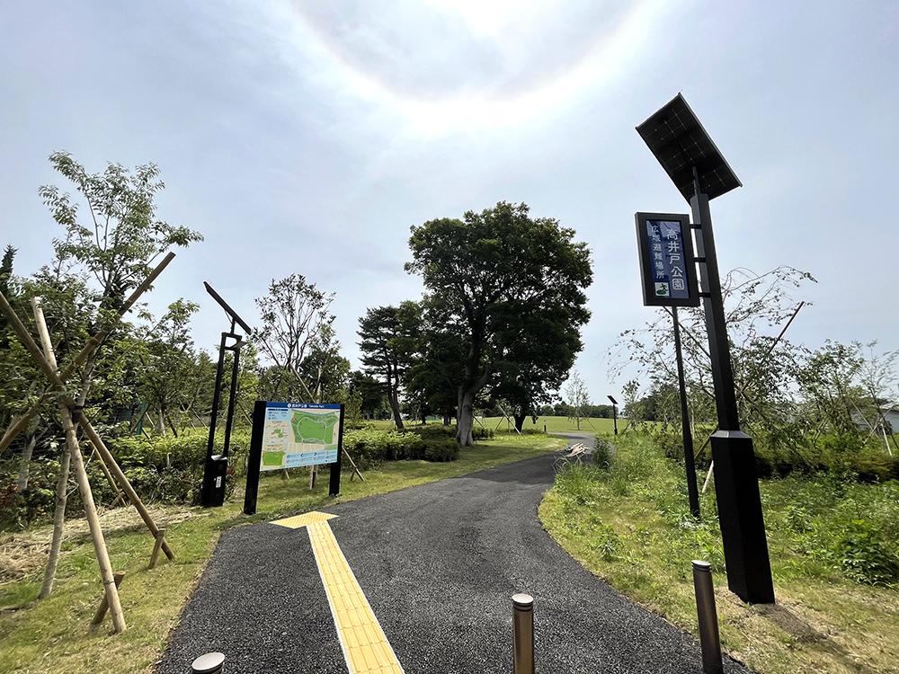 高井戸公園の新しくできる西側の入口