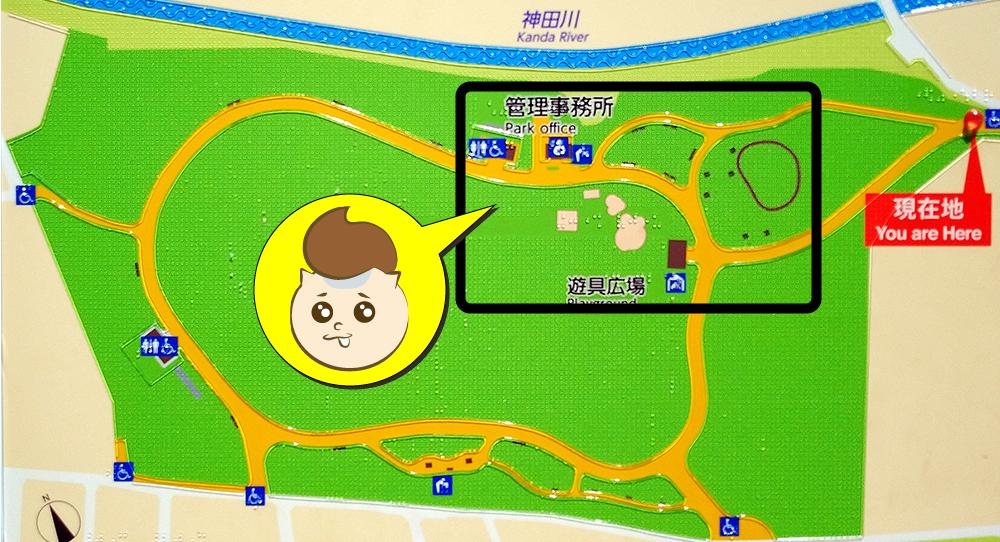 高井戸公園の遊具広場の場所