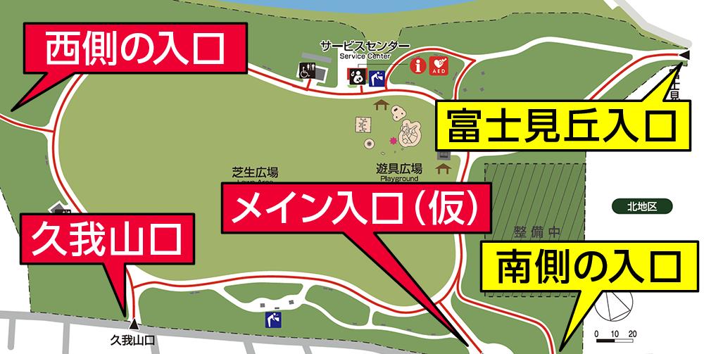 高井戸公園の入口の場所