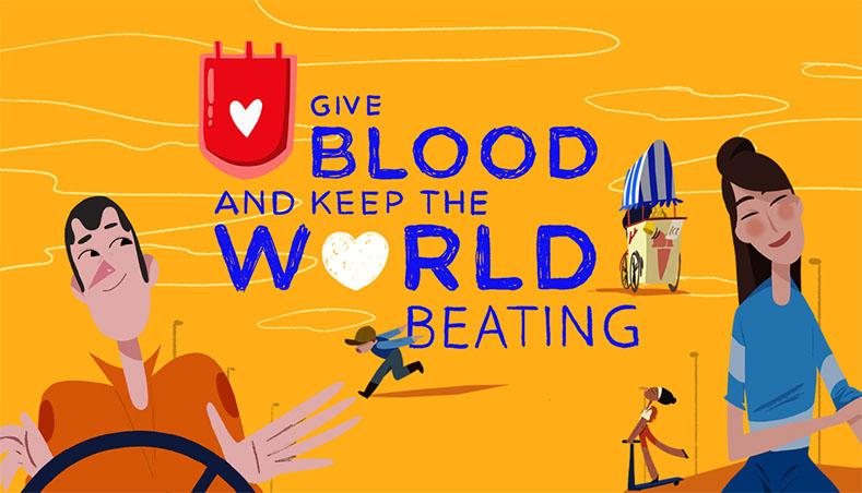 世界献血者デーのイメージビジュアル(日本赤十字社 東京都赤十字血液センターより)