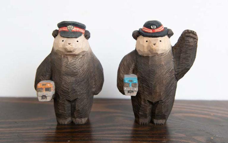 「Meetsいのかしら~お散歩デジタルスタンプラリー~」の手紙社コラボ限定プレゼント「高旗将雄さん制作の木彫り熊」