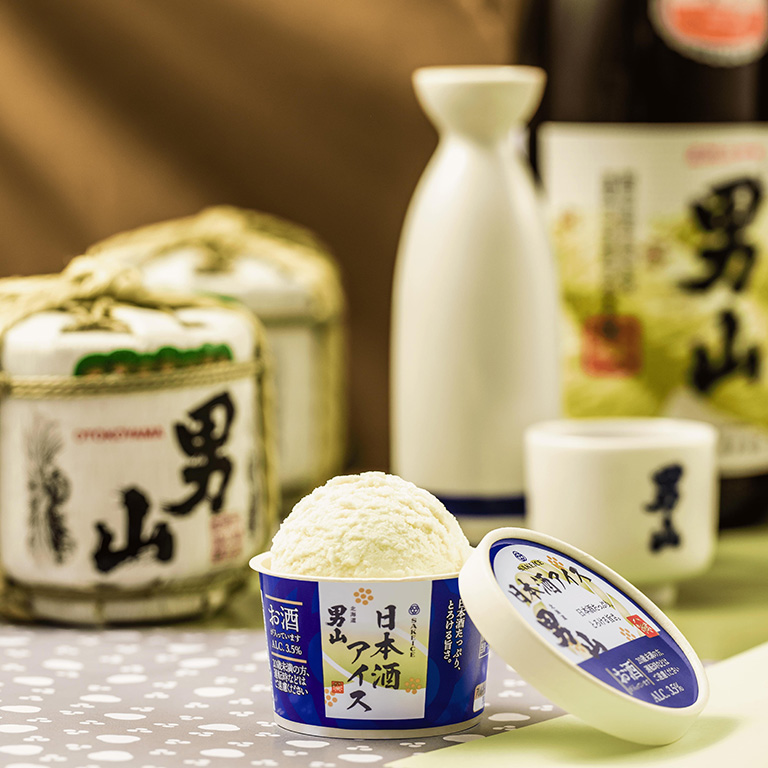 吉祥寺に初出店する日本酒アイスクリーム専門店「SAKEICE(サケアイス)」の「日本酒アイス-男山-」