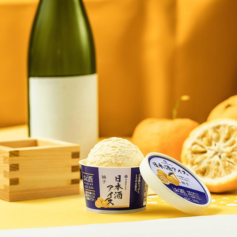 吉祥寺に初出店する日本酒アイスクリーム専門店「SAKEICE(サケアイス)」の「日本酒アイス-柚子-」