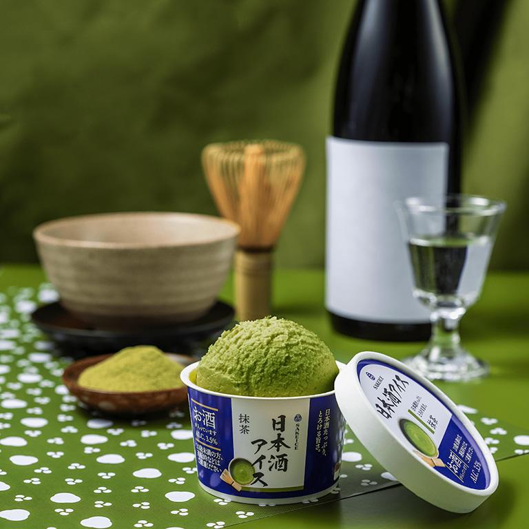 吉祥寺に初出店する日本酒アイスクリーム専門店「SAKEICE(サケアイス)」の「日本酒アイス-抹茶-」