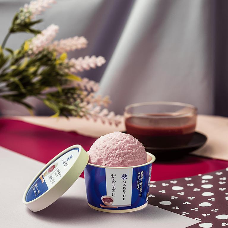 吉祥寺に初出店する日本酒アイスクリーム専門店「SAKEICE(サケアイス)」の「紫あまざけ(ノンアルコール)」